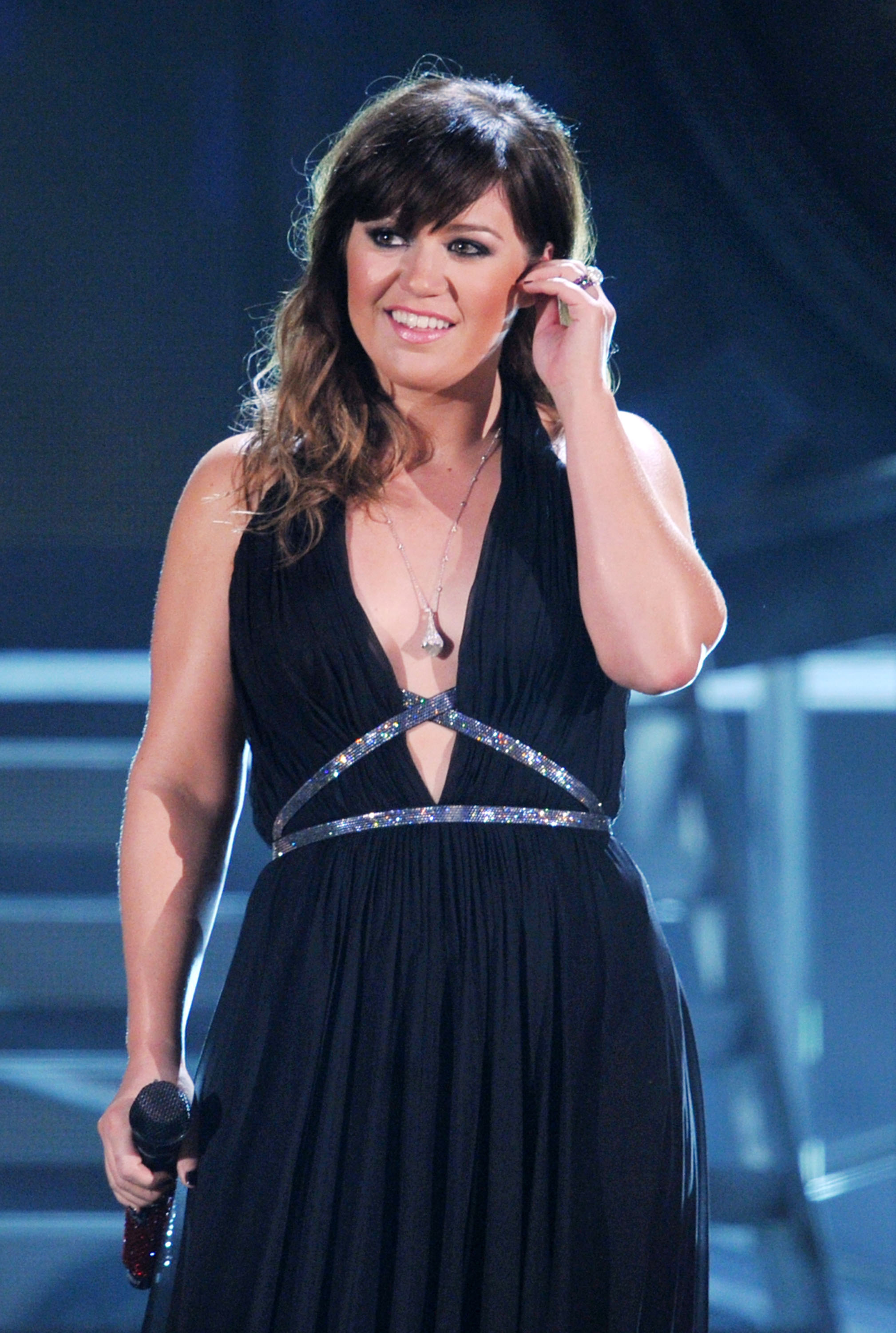 Kelly Clarkson performed at the Grammys.