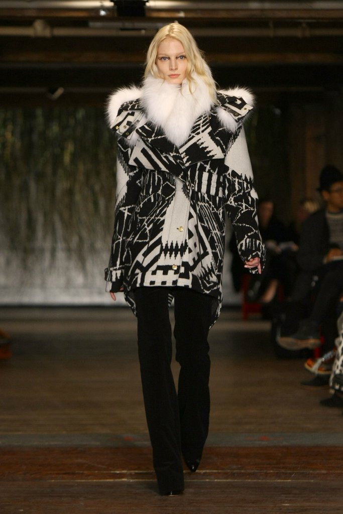 Altuzarra debuted this graphic parka that is just. to. die. for.