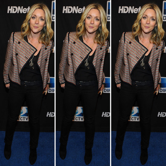 Jane Krakowski Red and Black Print Jacket