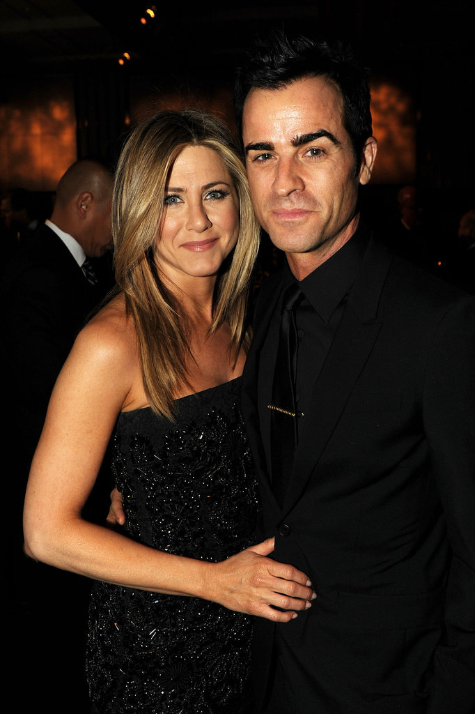 Jennifer Aniston was a nominee for her work on the Lifetime movie Five at the January Directors Guild Awards in LA. Justin Theroux was right by her side the entire night, and the pair even snuggled up and happily posed for a few photos.