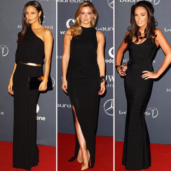Bar Refaeli, Thandie Newton and Tamara Ecclestone Dresses at the Laureus Sports Awards