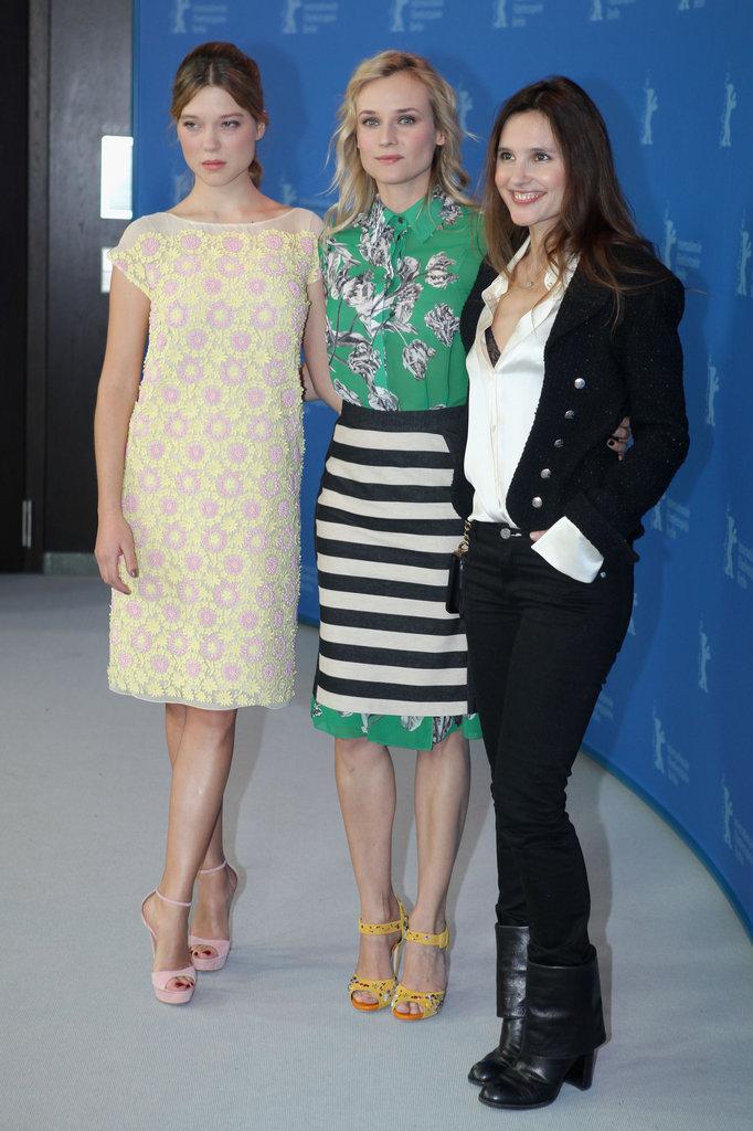 Virginie Ledoyen, Diane Kruger and Léa Seydoux did press together.
