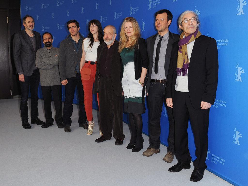 Jake Gyllenhaal, Charlotte Gainsbourg, Mike Leigh, Barbara Sukowa, François Ozon, Boualem Sansal, and more posed in Berlin.
