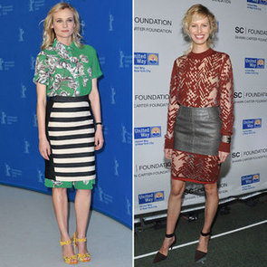 Skirts Over Dresses: Would You Wear the Runway Trend Like Diane Kruger and Karolina Kurkova?