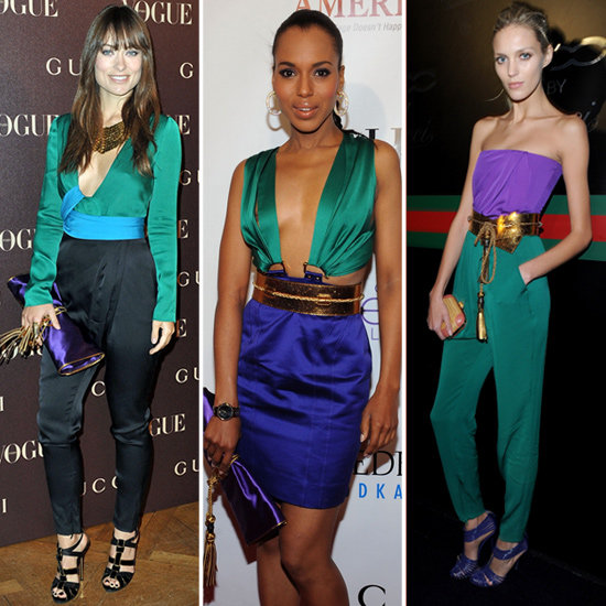 Gucci Purple Green and Gold Collection