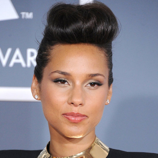 Alicia Keys Hair Grammys 2012