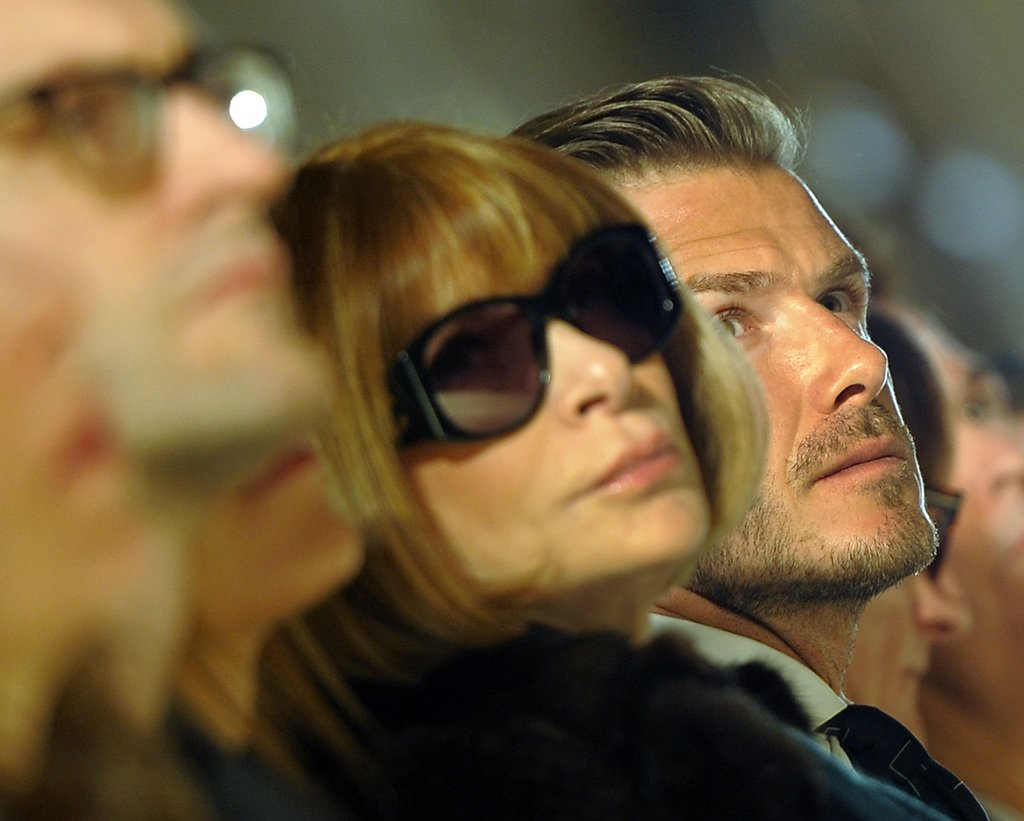 Anna Wintour and David Beckham saw the Victoria Beckham collection.
