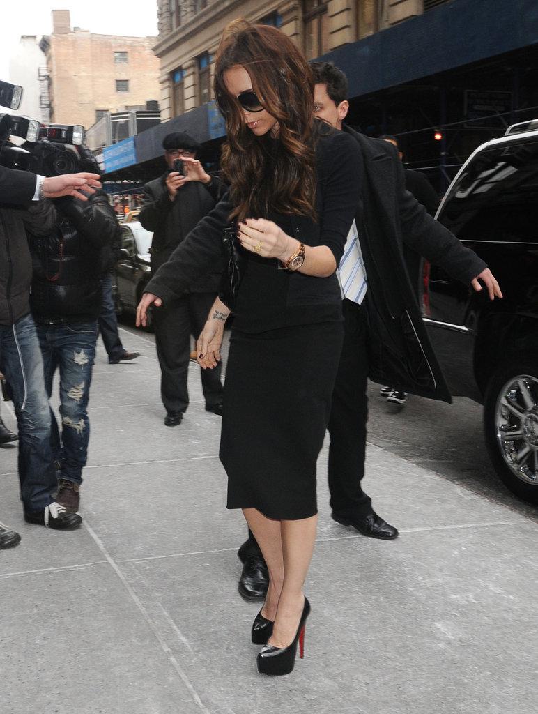 Victoria Beckham headed to Fashion Week.