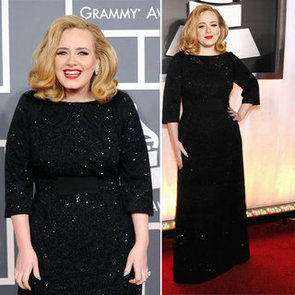 Pictures of Adele in Giorgio Armani on the Red Carpet at the 2012 Grammy Awards: Rate It or Hate It?