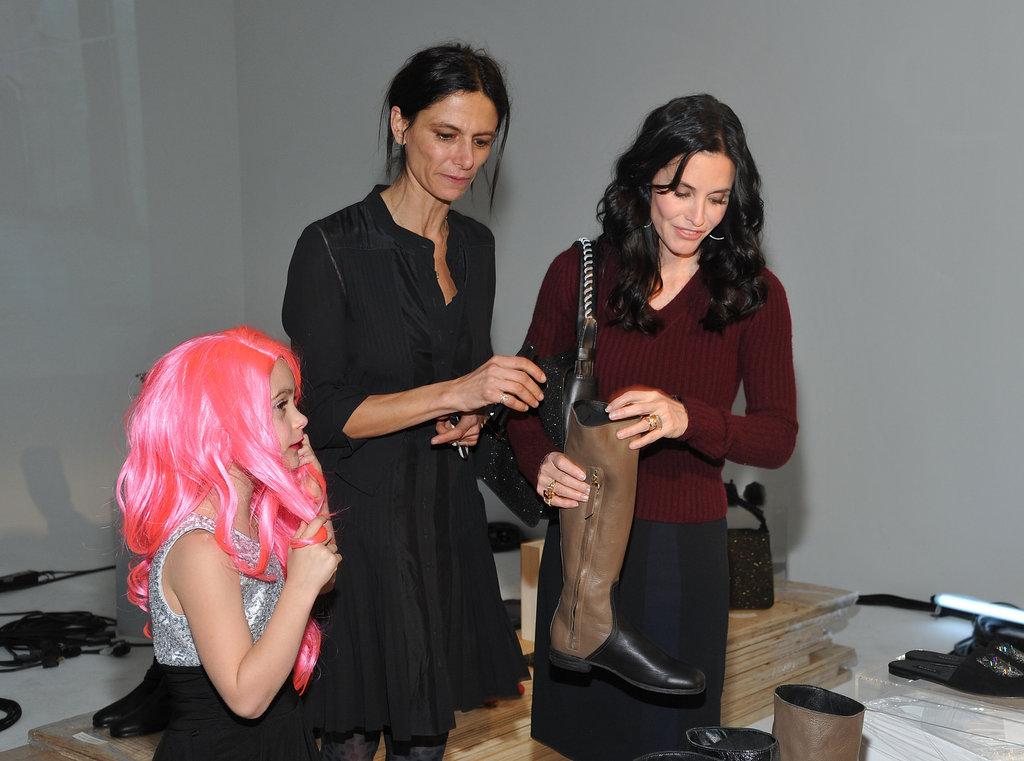 Courteney Cox and Coco Arquette checked out NewbarK.