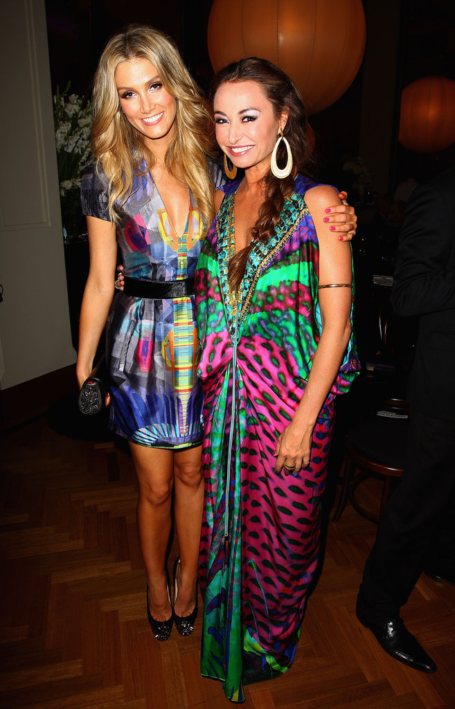 Delta Goodrem and Camilla Franks