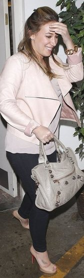Haylie Duff Pink Leather Jacket