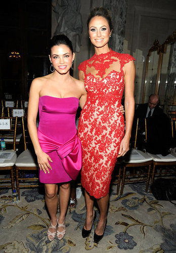 Jenna Dewan and Stacy Keibler caught up at Marchesa.