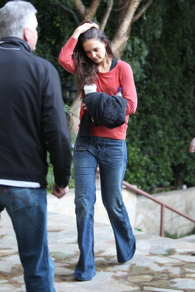 Katie Holmes was casual out in LA.