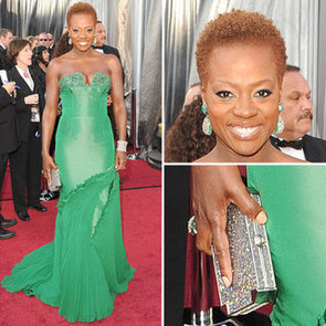 Pictures of Viola Davis in Emerald Vera Wang Strapless Gown at the 2012 Oscars: Love it or Leave it?