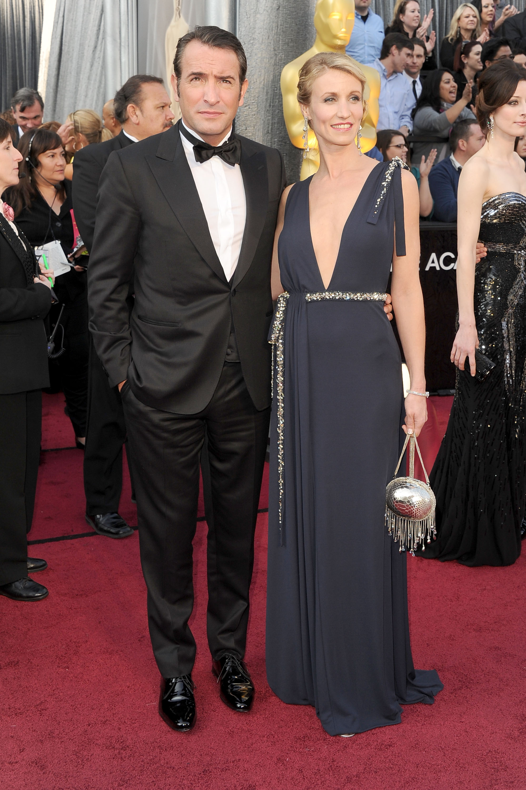 Jean dujardin and alexandra lamy oscar couples shine at for Dujardin lamy