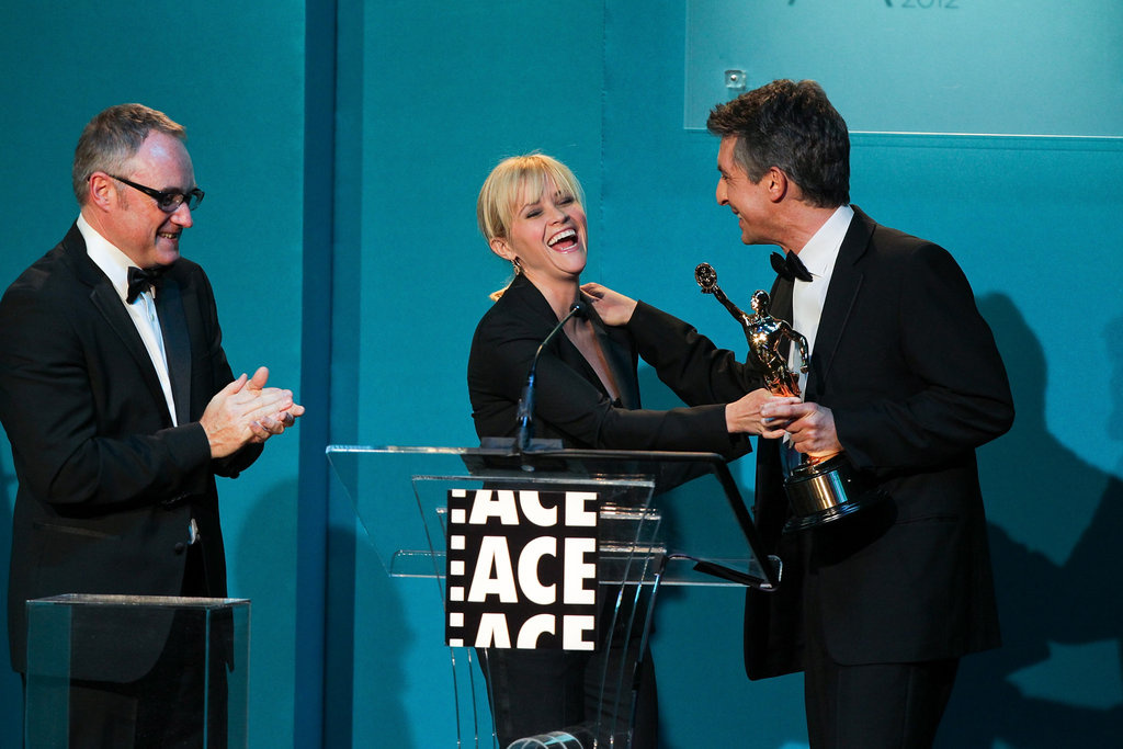 Reese Witherspoon chatted with Election director Alexander Payne.