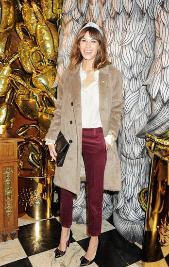 Alexa Chung at Mulberry's Dinner