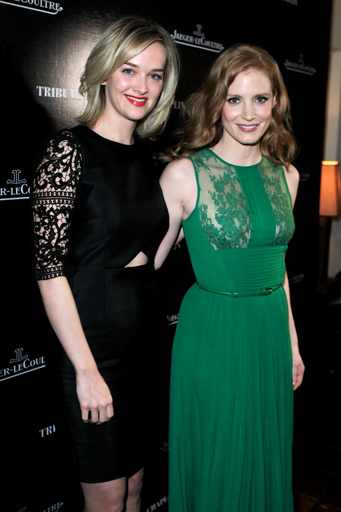 Jess Weixler and pal Jessica Chastain attended a Charlie Chaplin event.