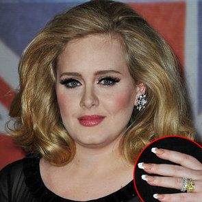 Adele's Hair, Nails and Makeup at the 2012 Brit Awards