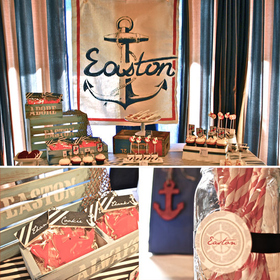 nautical baby shower popsugar moms