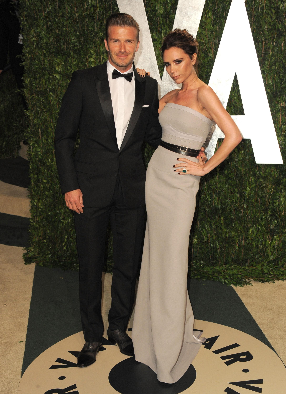 David and Victoria Beckham at the Vanity Fair Oscar party.