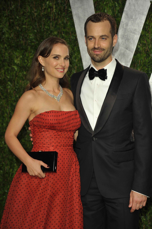 Natalie Portman and Benjamin Millepied at the Vanity Fair party.