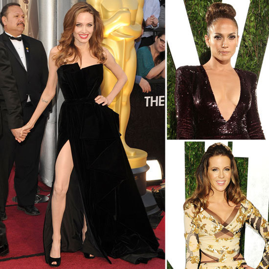 The Sexiest Red Carpet Looks from the 2012 Oscars: Angelina Jolie, Jennifer Lopez, Irinia Shaik & more Make the Grade:
