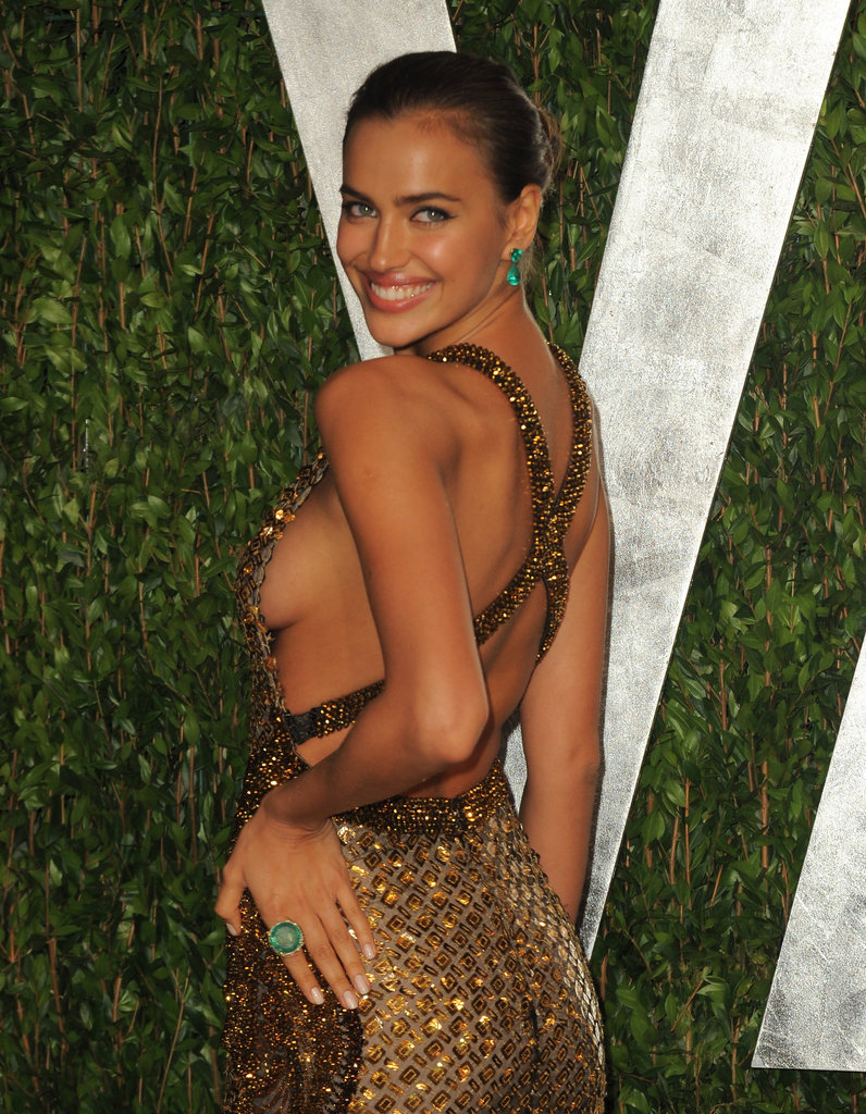 But check out this body-baring side shot of Irina Shayk's sexy gown.