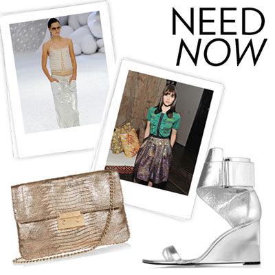 Shop Metallic Clothes Spring 2012