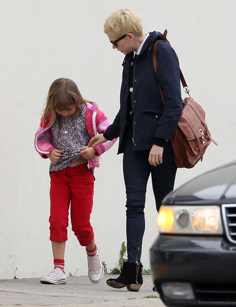Michelle Williams took daughter Matilda Ledger to a party in LA Monday.