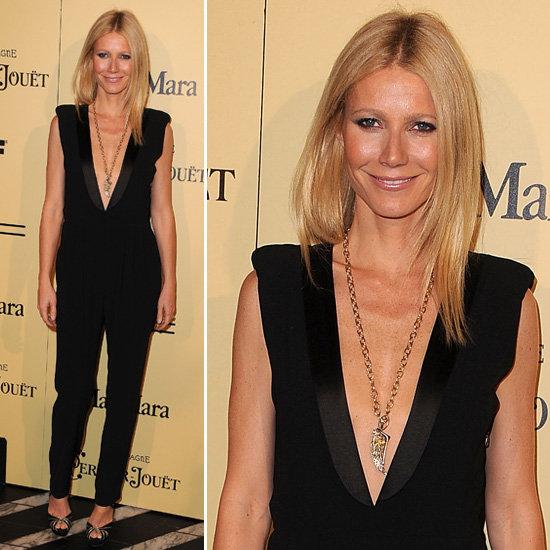 Gwyneth Paltrow Black Tuxedo Jumpsuit