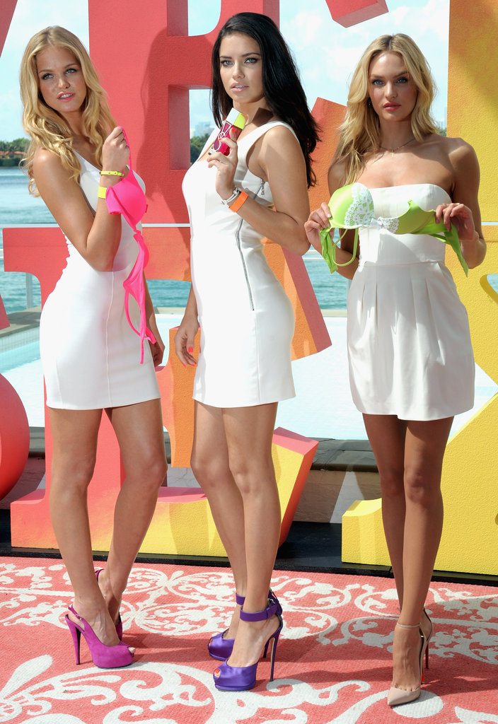 Adriana Lima, Erin Heatherton, and Candice Swanepoel worked for Victoria's Secret.