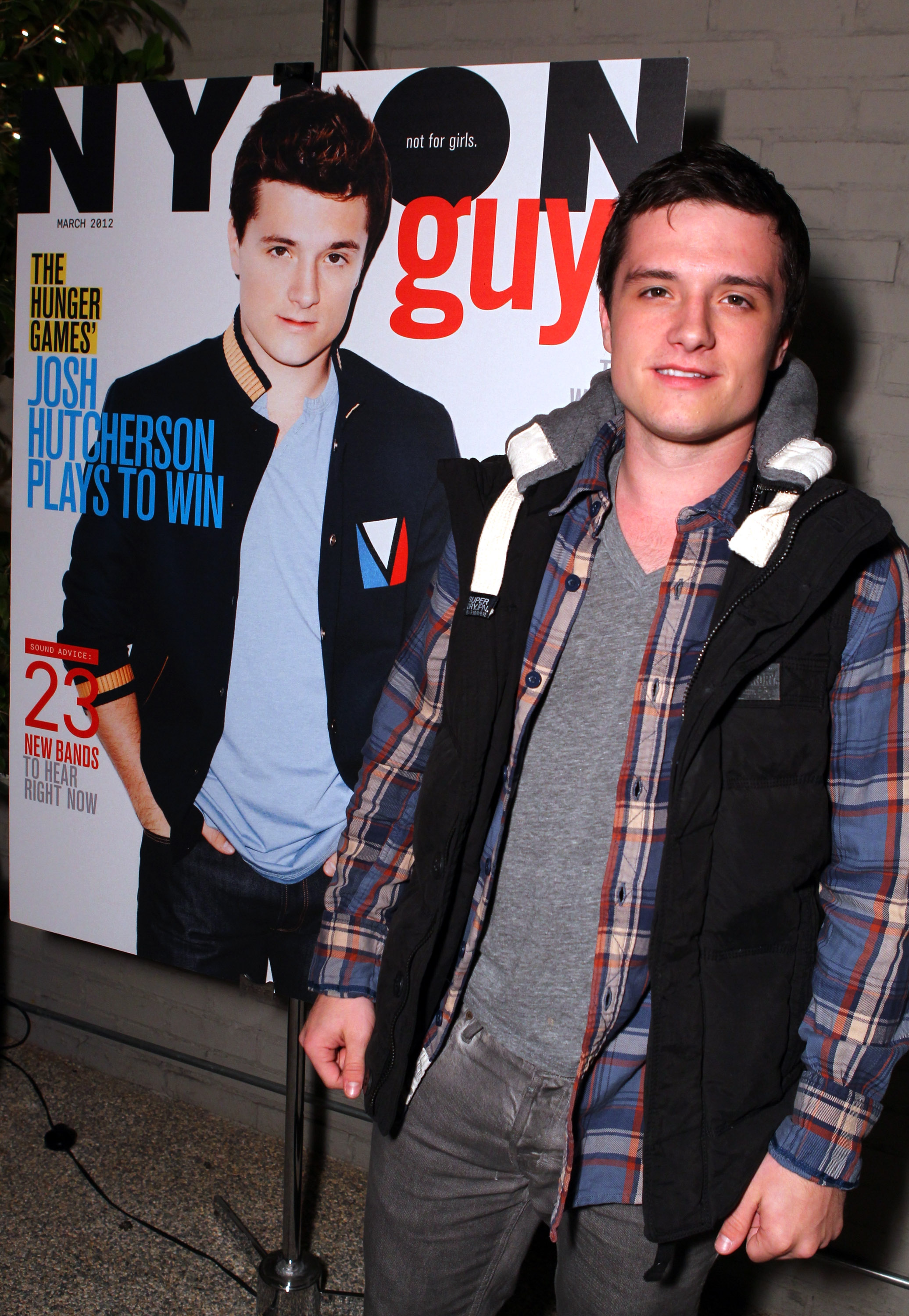 Josh Hutcherson posed alongside his Nylon Guys cover.