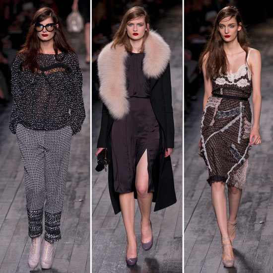 Review and Pictures of Nina Ricci Autumn Winter 2012 Milan Fashion Week Runway Show
