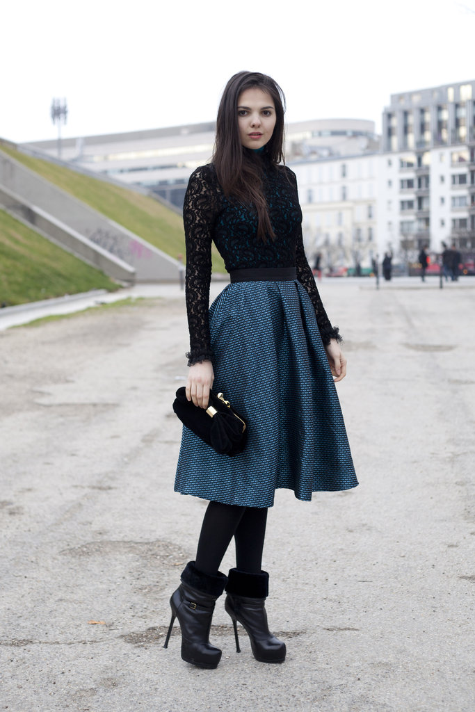 A full skirt and lacy layers are slick ways to make any look infinitely more ladylike.