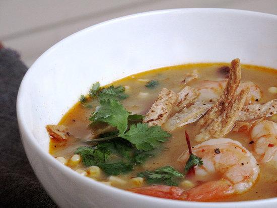 Shrimp and Tortilla Soup