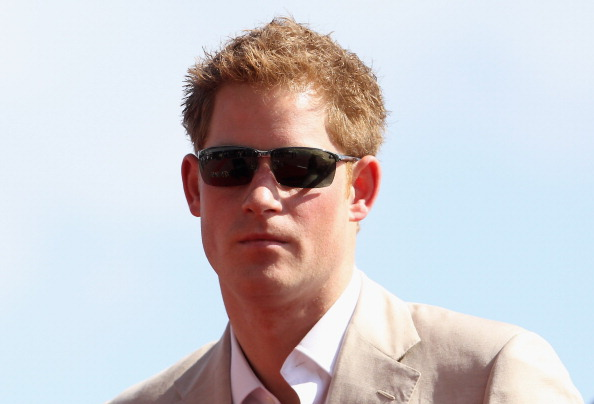 Prince Harry wearing sunglasses.