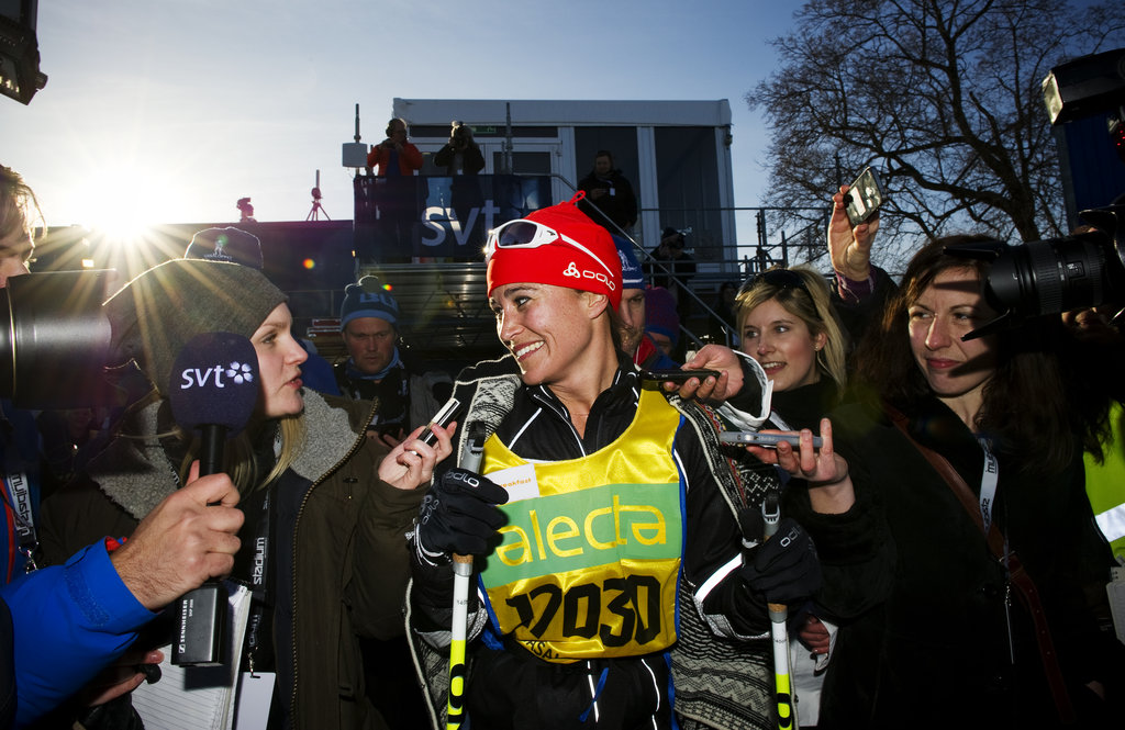 Pippa Middleton completed a charity ski race.