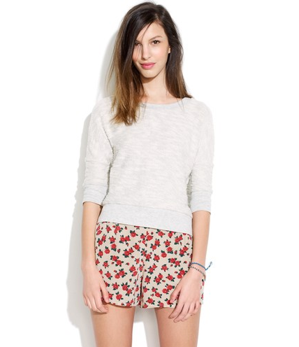 These muted floral shorts are an effortless way to add floral prints to your wardrobe.  Madewell Attic and Barn Kruli Shorts ($127)