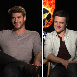 Liam Hemsworth and Josh Hutcherson Video Interview on The Hunger Games