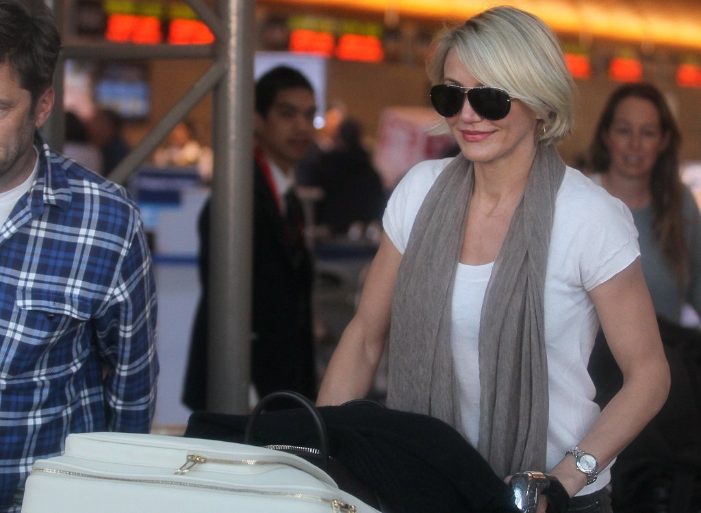 Cameron Diaz headed home from LAX.