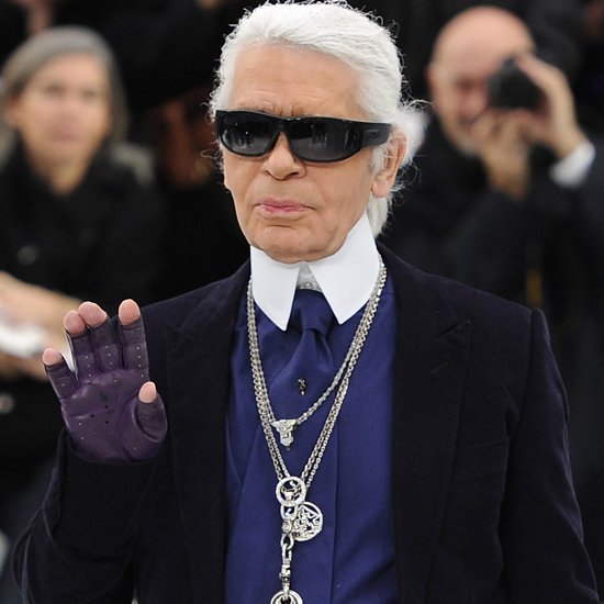 Karl Lagerfeld French Elle Grocery Pictures