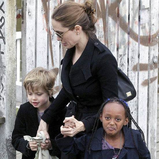 Angelina Jolie Pictures on Canal Boat With Shiloh and Zahara
