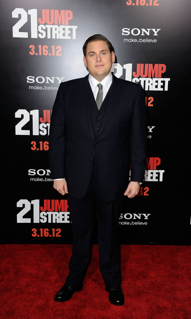 Jonah Hill struck a solo pose.