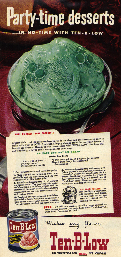 Nothing's as appetizing as green ice cream!