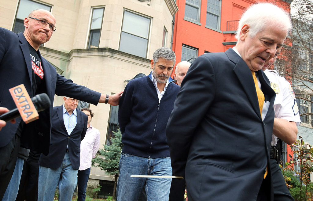 George Clooney was arrested at a protest.