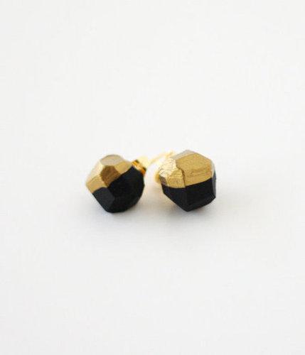 black gold dipped earrings