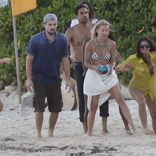 Leonardo DiCaprio and Kate Hudson at Philip Green Birthday