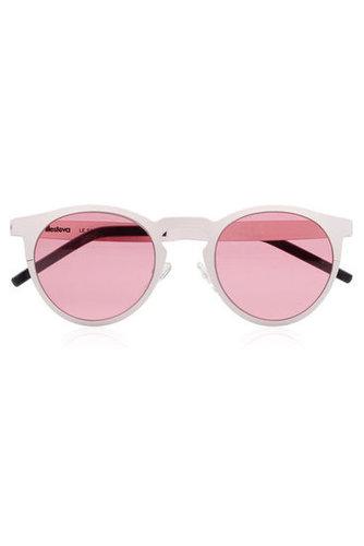Illesteva Le Steel round-frame metal sunglasses NET-A-PORTER.COM